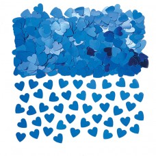 Blue Sparkle Hearts Confetti
