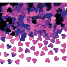 Purple Sparkle Hearts Confetti