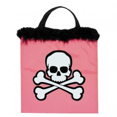 Pink Skull & Crossbones Bag with Marabou