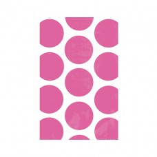 FAVOR BAGS DOT BRIGHT PINK