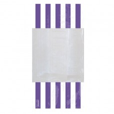 PARTY BAG SM STRIPE - NEW PURP