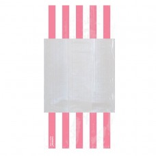 PARTY BAG SM STRIPE - NEW PINK