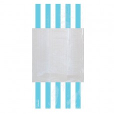 PARTY BAG SM STRIPE - CAR BLU