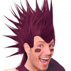 Burgundy Mohawk Wig