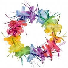 Hawaiian Themed Party Rainbow Tinsel Headwreath