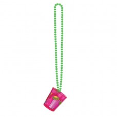 Tiki Lounge Bead Necklace with Shot Glass