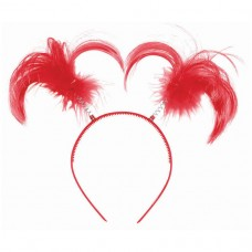 HEADBOPPER PONYTAIL RED
