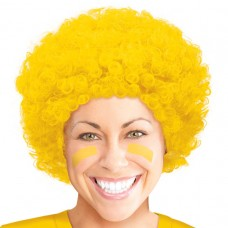 CURLY WIG YELLOW