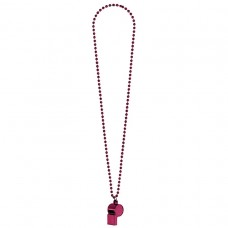 WHISTLE ON CHAIN BURGUNDY