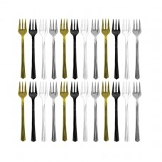 Black/Silver/Gold Cocktail Forks