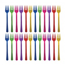 COCKTAIL FORKS pk20:JEWEL TONE