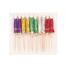 Hawaiian Themed Party Parasol Foil Picks