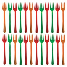 Red & Green Cocktail Forks