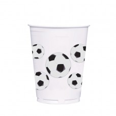 CUP 414ml plas:SOCCER FAN