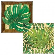 Island Palms Square Plastic Appetiser Plate