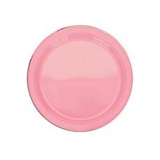 Pretty Pink Plastic Plates 17.7cm