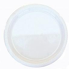 Frosty White Plastic Plates 17.7cm