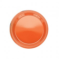 Orange Peel Plastic Plates 22.8cm