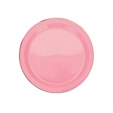 Pretty Pink Plastic Plates 22.8cm