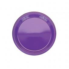 Purple Plastic Plates 22.8cm