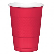 16 OZ PLST CUP 20 CT-APPLE RED