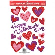 Glitter Heart Window Decoration