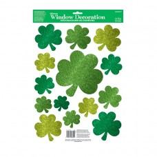 Lucky Wishes Glitter Windod Decorations