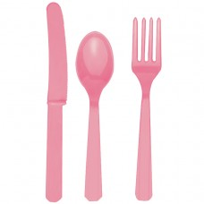 Pretty Pink Plastic Cutlery