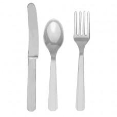 CUTLERY ASST pk24:silver