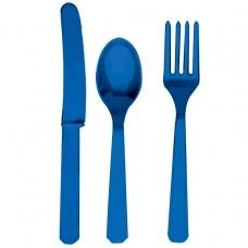 CUTLERY ASST pk24:marine blue