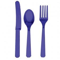 CUTLERY ASST pk24:purple