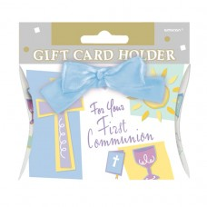 Blue Communion Gift Card Holder