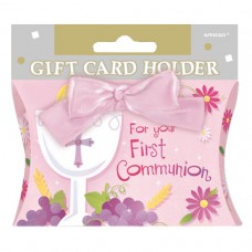 Pink Communion Gift Card Holder