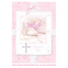 Tiny Blessings Pink Thank You Cards