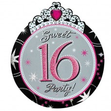 Sweet 16 Sparkle Novelty Invitations