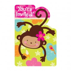 Monkey Love Party Invitations