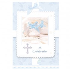 Tiny Blessings Blue Invitations