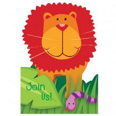 Jungle Animals Party Invitations