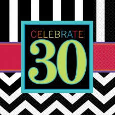 30th Chevron Lunch Napkin