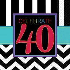 40th Chevron Lunch Napkin