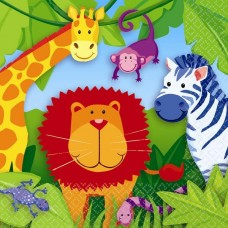 Jungle Animals Luncheon Napkins