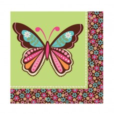 Hippie Chick Luncheon Napkins