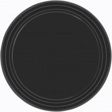 Black Paper Plates 17.7cm