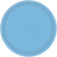 Powder Blue Paper Plates 17.7cm