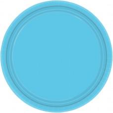 Carribean Blue Paper Plates 17.7cm