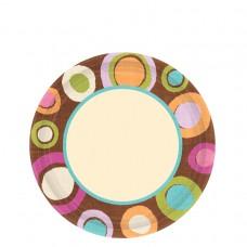 Cocoa Dots Paper Plates 17.7cm (ECO)