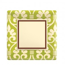 Natural Damask Paper Plates 17.7cm (ECO)