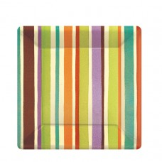 Crafty Stripe Paper Plates 17.7cm (ECO)