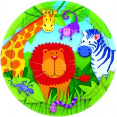 Jungle Animals Paper Plates 17.7cm