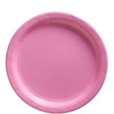 NEW PINK 22.8CM PAPER PLATE